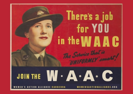 WAAC info postcards army
