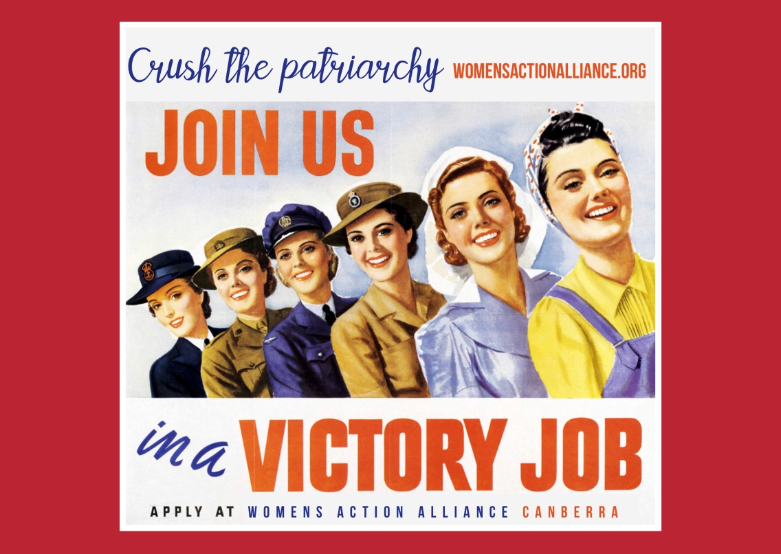WAAC info postcards victory job