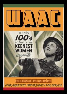 WAAC info postcards